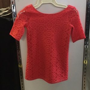 Lilly Pulitzer Girls red top size XS